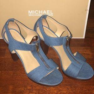 Michael Kors Berkley denim sandals